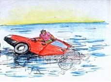 Что делать при падении машины в воду